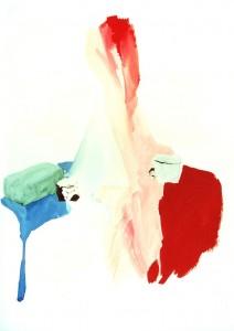 Натюрморт. Голубое, розовое, красное.
