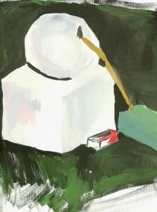 Натюрморт - Куб, шар, кисть